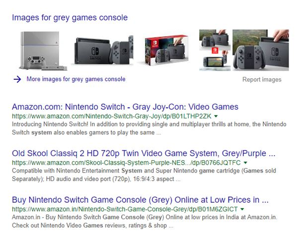 grey games console search