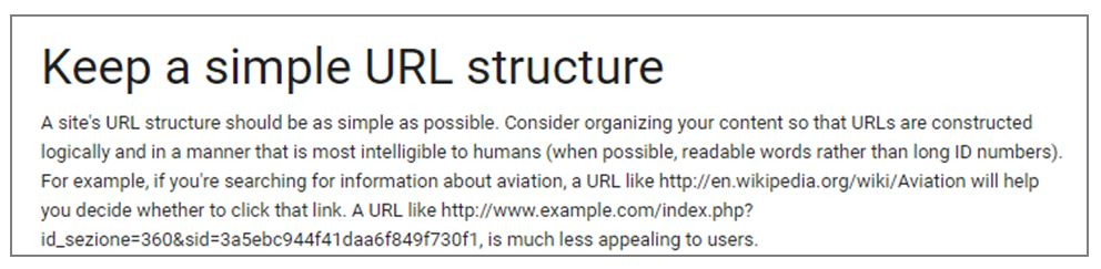 URL optimisation