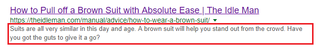 example of meta description tag for seo