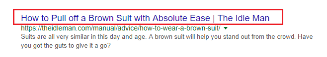 example of seo title tag
